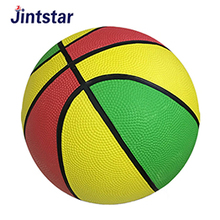 Customized size inflatable rubber basketball ball with deflated packing