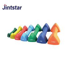 2018 cheap triangle shaped colorful dumbbell set