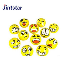6.3cm Emoji PU Foam anti stress ball Stretch Bounce Stress Balls