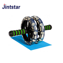 Customized double AB roller exercise wheel