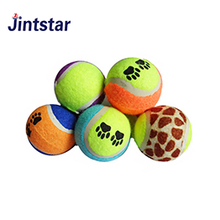 Jintstar cheap custom printed pet tennis ball