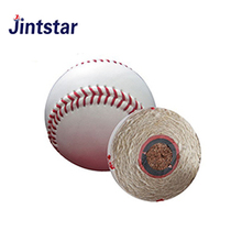 Jintstar cheap wool filling pu hand sewn baseball
