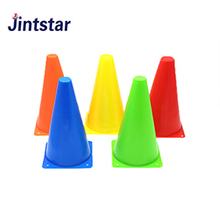 Jintstar colorful plastic soccer training marking cones speed agility cones