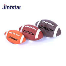 China manufacture custom american leather football PVC ball