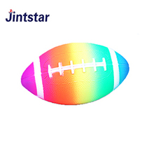 China manufacture rainbow american football colorful PVC ball for kids