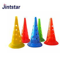 Wholesale professional colorful soccer training cones set for speed training with small holes