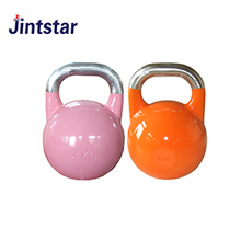 Jintstar colorful competition kettle bell weights cast iron big bell for power training