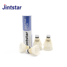 Jintstar top grade goose feather shuttlecock durable badminton shuttlecock for competition