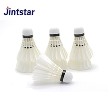 Jintstar badminton shuttlecock white duck feather for match