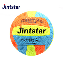 2018 New customized machine stitched volleyball colorful balls in bulk