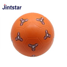 Jintstar custom deflated rubber soccer ball kids