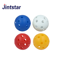 Cheap golf plastic balls with hole air flow practice