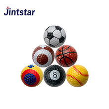 Sports theme novelty design Golf Ball soccer golf ball