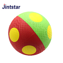 Jintstar outdoor indoor playground ball colorful rubber ball