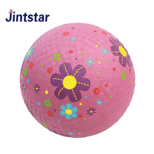 Custom design soft touch 8.5'' 10'' rubber playground ball with high quality