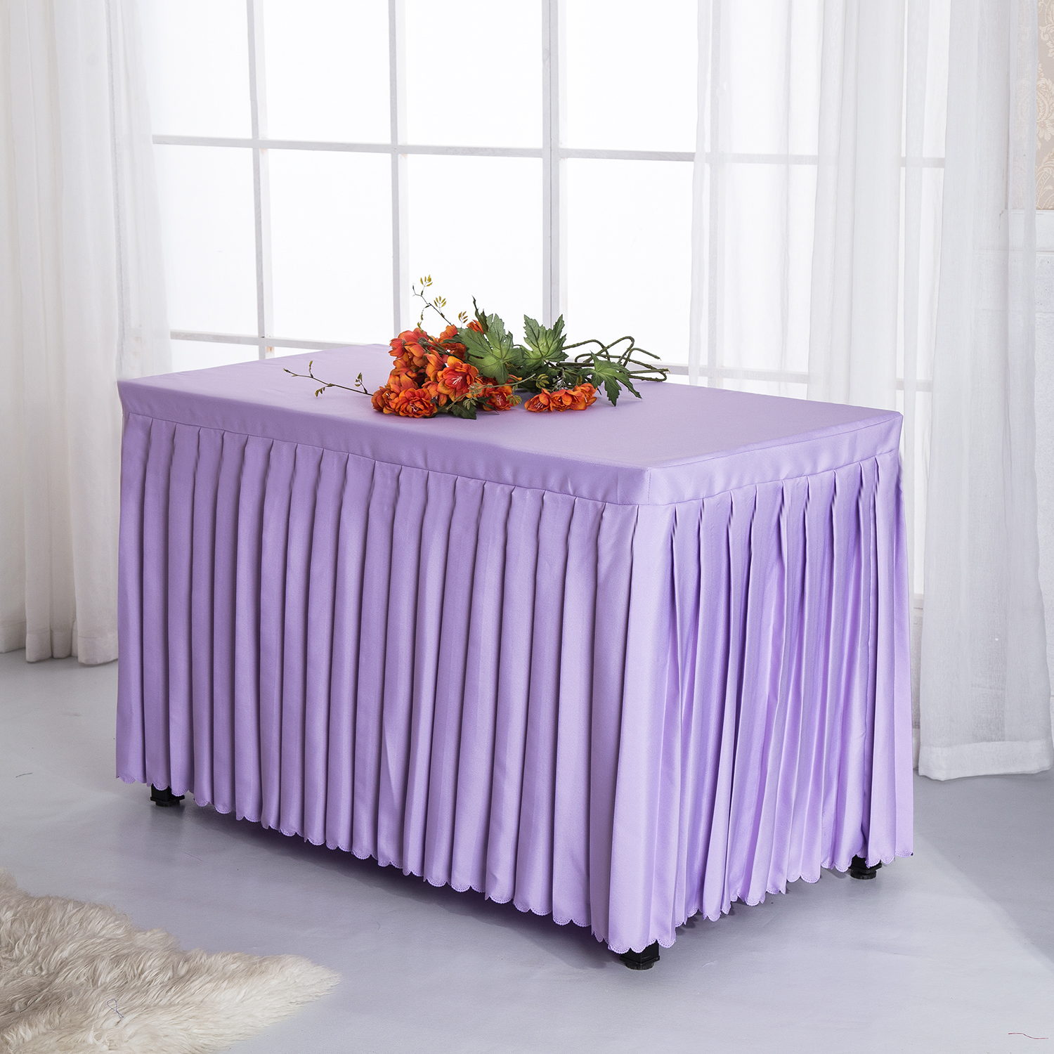 Table Skirts Hot Wholesale Palin Wedding Banquet Event