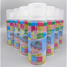 Customized Hair Colour Spray Temporary  Hair Color Spray Dye