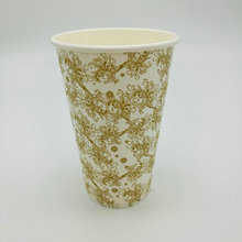 Logo Printed Disposable Paper Coffee Cups,Disposable hot Drink Coffee Paper Cup Glass with lids and Sleeves 8oz 12oz 16oz 20oz
