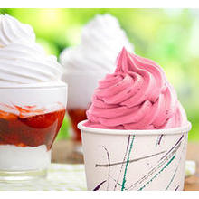 Logo Printed Disposable ice cream cup paper with lid
