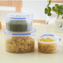 Promotional gift box food grade PP material transparent food plastic container 3pcs set