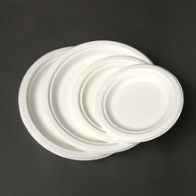 Environmentally friendly Biodegradable sugarcane bagasse Paper Pulp disposable paper PLATE