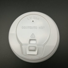 PS PLASTIC LID FOR COFFEE CUP with spout