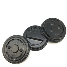 black and white plastic ps lid for coffee paper cup,paper cup lid,flat plastic lid