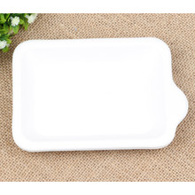 Disposable biodegradable microwave sugarcane bagasse molded pulp paper tableware plates