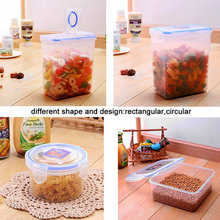 Low price food packaging bpa free airtight plastic food container rectangular with lid