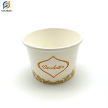 Ice Cream Cup Yogurt Cup with Logo Printed,Disposable ice cream paper cup with lid