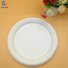 Biodegradable paper pulp disposable food plate
