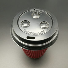 disposable coffee cups with plastic lids ,paper cup plastic lid with Design of switch type suction pipe