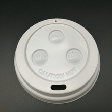 food grade white black plastic lid cover for different paper cup ps lids