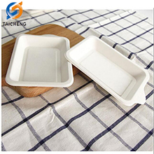 hot sale party dessert bagasse disposable paper plate tray raw material