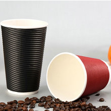 double wall paper cup with lid,corrugated coffee paper cup