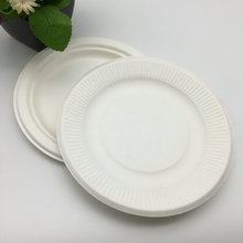New Product Disposable Tableware Biodegradable Bagasse pulp Food Container round plain plates