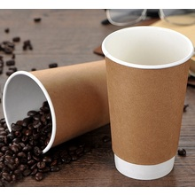 Disposable double wall kraft coffee paper cup