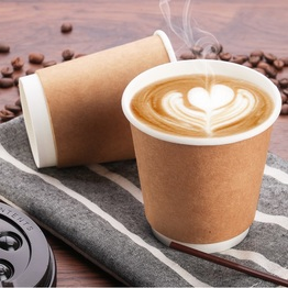 Disposable hot coffee paper cup double wall