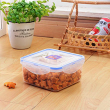Household Transparent square Plastic Containers for food storage