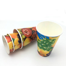 disposable cold drink disposable custom printing takeaway paper coffee cup for cold drinking