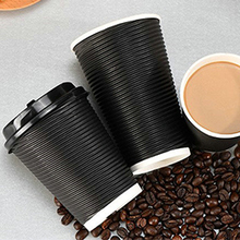 custom ripple wall hot coffee paper cups