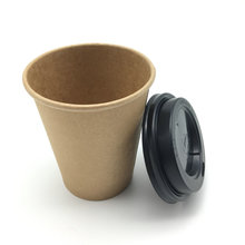 flexo printing kraft paper cup with lids coffee paper cup logo customized
