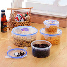 Round disposable take away plastic salad bowl food container