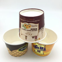 Disposable ice cream paper cups with lid