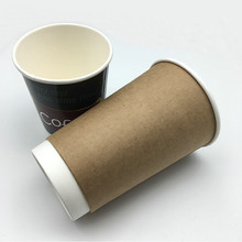 Insulated kraft double wall disposable paper cup for hot coffee