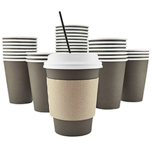 amazon packing insulate printed coffee cups with lid and sleeve