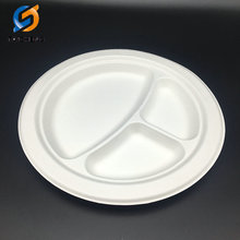 Compostable eco-friendly Round sugarcane bagasse tableware plate