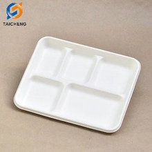 Amazon Basics 5-Compartment Compostable Food Trays 500-Count