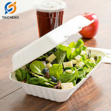 Heavy Duty biodegradable sugarcane bagasse food box 9 inches x6 inches