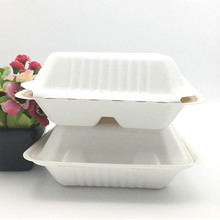 compostable bagasse pulp paper plates dinnerware sugarcane clamshell